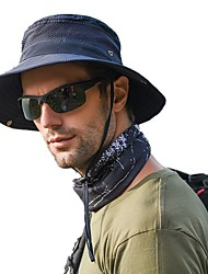 cheap -Men's Sun Hat Fishing Hat Hiking Hat Outdoor Packable Bucket Hat UV Sun Protection Windproof UPF50+ Summer Camping / Hiking Hunting Fishing Breathable  Quick Dry boonie hat