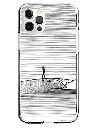 cheap -Striped Person Case For Apple iPhone 12 iPhone 11 iPhone 12 Pro Max Unique Design Protective Case Shockproof Pattern Back Cover TPU
