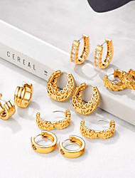 cheap -Women's Hoop Earrings Earrings Huggie Earrings Vintage Style Sweet Heart Stylish Vintage S925 Sterling Silver Earrings Jewelry Gold For Birthday Gift Festival