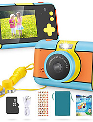 cheap -Kids Camera - 24MP Dual Lens Kid Digital Camera Gifts for Boys Girls, 1080P 2.4'' Large LCD Blue Screen Video Camcorder, USB Rechargeable Selfie Camera with 32GB SD Card