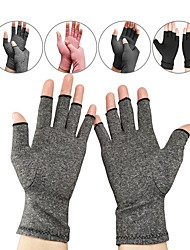 cheap -1 Pair Compression Gloves Arthritis Gloves for Women Men Carpal Tunnel Gloves Relieve Arthritis Pain Fingerless Design Breathable Moisture Wicking Fabric Comfortable Fit