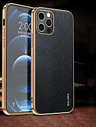 cheap -Phone Case For Apple Back Cover Leather iPhone 12 Pro Max 11 SE 2020 X XR XS Max Shockproof Dustproof Solid Color PU Leather TPU