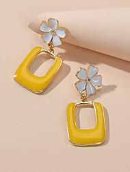 cheap -Women's Drop Earrings Geometrical Petal Cute Earrings Jewelry Yellow For Festival