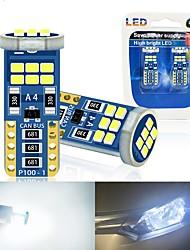 cheap -10pcs t10 W5W Led 194 168 Bulb 2016 18LED Car Interior lights reading Lamps dome light 6000K 12v