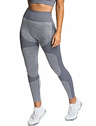 cheap -Women's Pants Seamless Hip-up Hygroscopic Sports Pants Sexy Hip Yoga Trousers Leggings♥ (Gray, M)