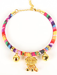 cheap -Cat Collar Necklace Bells Adjustable Size Bow Tie Special Material Rainbow