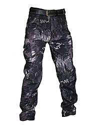 cheap -Men's Softshell Pants Waterproof Fleece Lining Ventilation Wearproof Fall Winter Camo / Camouflage for Camouflage Grey Black S M L XL XXL