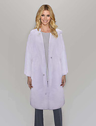 cheap -Women's Faux Fur Coat Long Solid Colored Daily White Black M L XL XXL