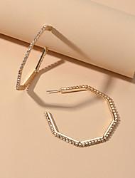 cheap -Women's Hoop Earrings Trendy Imitation Diamond Earrings Jewelry Gold / Silver For Date Festival