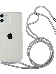 cheap -Clear Phone Case For iPhone 11 12 Pro Max Lanyard Necklace Chain Hang Strap Cord Rope Cover Coque For iPhone XS Max XR X 7 8 PLUS SE 2020