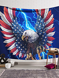 cheap -Wall Tapestry Art Decor Blanket Curtain Hanging Home Bedroom Living Room Decoration Polyester Eagle American Flag Feathers