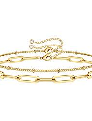 cheap -Women's Clear Bracelet Geometrical Heart Stylish Simple Copper Bracelet Jewelry Gold For Daily Promise