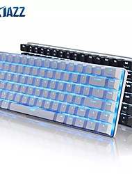cheap -Ajazz AK33 Mechanical Gaming Keyboard Black / Blue Switch 82 Keys Wired Keyboard for PC Games Ergonomic Cool LED Backlit Design