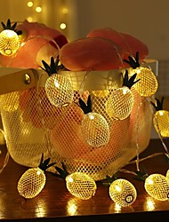 cheap -1.5m String Lights 10 LEDs 1 set Warm White Christmas New Year's Party Decorative Holiday AA Batteries Powered