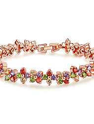 cheap -Women's Clear Cubic Zirconia Bracelet Geometrical Heart Stylish Simple Copper Bracelet Jewelry Rose Gold For Daily Promise