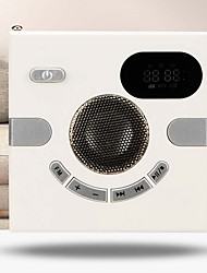 cheap -Wall Speaker Fm Radio With Time Display Headphone Jack Support Aux O Tf Card Usb Disk Mp3 Player Usb Charge