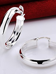 cheap -Women's Hoop Earrings Geometrical Precious Fashion Silver Plated Gold Plated Earrings Jewelry Gold / Silver For Christmas Party Evening Street Gift Date 1 Pair