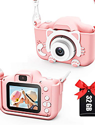 cheap -Kids Camera for Girls and Boys, Kids Digital Dual Camera 2.0 Inches Screen 20MP Video Camcorder Anti-Drop Children Cartoon Selfie Camera, Camera for Kids with Games, Birthday Gift, 32GB Memory Card