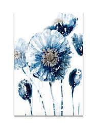 cheap -Oil Painting Hand Painted Vertical Floral / Botanical Modern Stretched Canvas