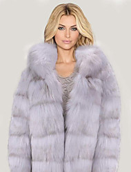 cheap -Women's Faux Fur Coat Regular Solid Colored Party Basic Gray S M L XL