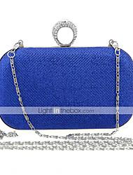 cheap -Women's Bags Glitter Evening Bag Cover Ruffles Metallic Wedding Party Event / Party Evening Bag Wedding Bags Black Red Gold Royal Blue