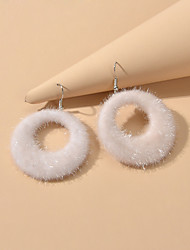 cheap -Women's Drop Earrings Geometrical Sweet Earrings Jewelry White For Date Festival