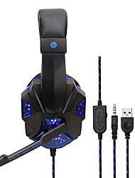 cheap -Soyto SY830MV Gaming Headset USB and 3.5mm Headphones Microphone Combo Cable LED Headphones E-sport for PS4 Gaming