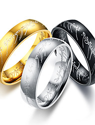 cheap -Band Ring Classic Silver Gold Black Titanium Steel Number Letter Lord of the Ring Artistic European Inspirational 1pc 6 7 8 9 10 / Men's