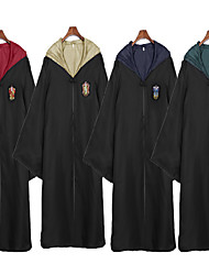 cheap -Assassin Magic Harry Gryffin d'or Slytherin Cloak Men's Women's Movie Cosplay Movie / TV Theme Costumes Yellow Red Blue Cloak Christmas Halloween Carnival Terylene Alloy Metal Cotton Polyester