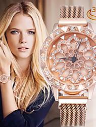 cheap -Women's Quartz Watches Analog Quartz Glitter Sparkle Diamond Large Dial / PU Leather