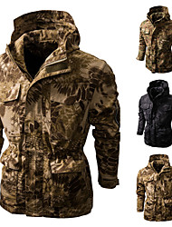 cheap -men's military tactical jacket fleece hooded coat soft shell camouflage outdoor hunting outwear