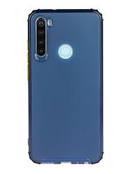 cheap -Phone Case For Xiaomi Back Cover Redmi Note 9 4G Redmi Note 9 Pro Redmi Note 8 Redmi K20 Redmi Note 8 Pro Redmi 10X 4G Shockproof Transparent Transparent Solid Color TPU