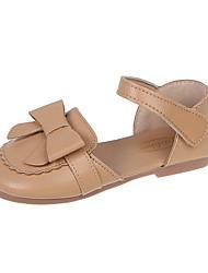 cheap -Girls' Princess Shoes PU Flats for Kids Big Kids(7years +) Daily Home Walking Shoes Black Khaki Beige Spring Summer