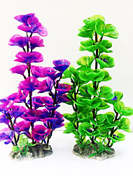 cheap -Artificial Underwater Plants Aquarium Fish Tank Decoration Green Purple Water Grass Viewing Decorations Weeds