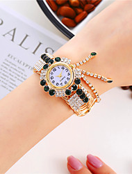 cheap -Women's Quartz Watches Analog - Digital Quartz Glitter Tennis Chain Bangle Diamond