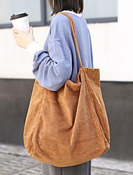 cheap -Women's Bags Corduroy Tote Crossbody Bag Shopper Bag Plain Daily Going out 2021 Handbags Black Khaki Green Brown