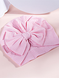 cheap -1pcs Infant Unisex Sweet Striped / Solid Colored / Floral Bow Cotton Hair Accessories White / Blue / Purple One-Size