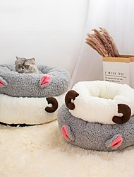cheap -Dog Cat Dog Beds Cat Beds Dog Bed Mat Animal Warm Multi layer Soft Elastic For Indoor Use Plush Fabric for Large Medium Small Dogs and Cats
