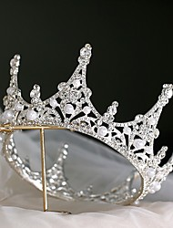 cheap -Bridal Princess Alloy Crown Tiaras with Rhinestone / Pearl 1 PC Wedding / Special Occasion Headpiece
