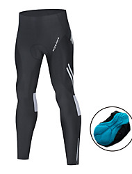 cheap -WOSAWE Men's Cycling Tights Elastane Bike Tights Bottoms Sports Solid Color Black Mountain Bike MTB Road Bike Cycling Clothing Apparel Race Fit Bike Wear Advanced Sewing Techniques / Athletic