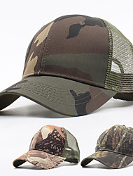 cheap -Men's Baseball Cap Fishing Hat Hunting Hat Outdoor UV Sun Protection UPF50+ Quick Dry Breathable Spring Summer Hat Hunting Baseball Camouflage Color Army Green Camouflage