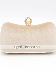 cheap -Women's Bags Polyester Alloy Evening Bag Pearls Crystals Solid Color Plain Fashion Party Wedding Wedding Bags Handbags Chain Bag Black Blue Almond Green