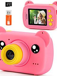"cheap -Kids Camera for Boy Blue Bear Cartoon Birthday Children Toy Toddler Camera 3-10 Year Old Starter Kids Digital Camera 8M 1080P with 8G Card Kids Game Camera LCD Screen 2.0"" (Pink Bear/Blue Bear)"