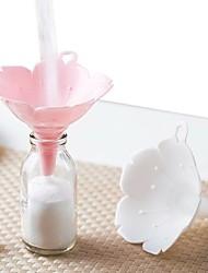 cheap -Cherry Blossom Shape Funnels 2pcs Home Olive Oil Condiments Kitchen Accessories