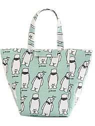 cheap -Unisex Linen Lunch Bag Print Animal Daily Office & Career Handbags Bear Alpaca Blue cat Grey cat