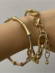 cheap -Women's Mismatched Fashion Stylish Classic Alloy Bracelet Jewelry Gold / Silver For Festival