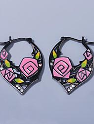 cheap -Women's AAA Cubic Zirconia Earrings Fancy Petal Elegant Vintage Korean Earrings Jewelry Black For Wedding Anniversary Party Evening 1 Pair