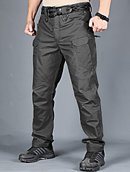 cheap -Men's Hiking Cargo Pants Tactical Pants Tactical Cargo Pants Multi-Pockets Quick Dry Multifunctional Breathable Autumn / Fall Spring Camo / Camouflage for Camouflage Grey Khaki S M L XL XXL