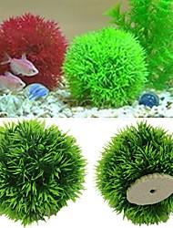 cheap -Artificial Aquatic Plastic Plants Aquarium Grass Ball Fish Tank Ornament Decor