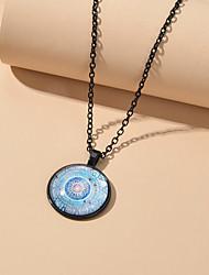 cheap -Women's Pendant Necklace Retro Ethnic Acrylic Alloy Light Blue 52 cm Necklace Jewelry For Beach Festival
